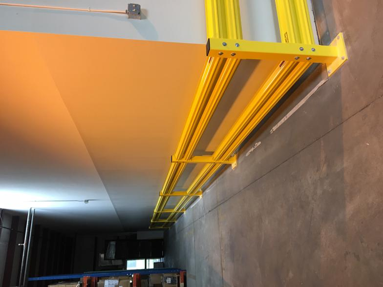Warehouse safety guardrail