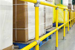 Warehouse safety handrail safety railing