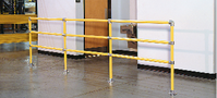 Handrail, pedestrian guardrail, personnel barriers, modular protective barriers