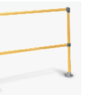 Warehouse Safety Handrail Yellow 2 Rails