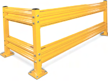 Safety Yellow Guard Rail, Industrial warehouse guard rail