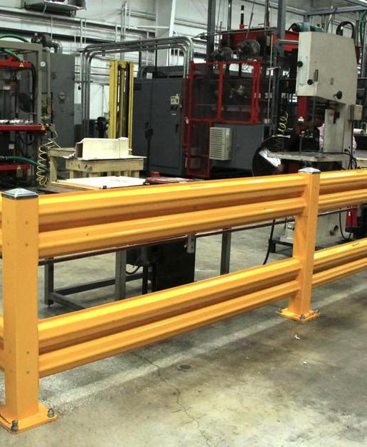 Guardrail protecting employees and mfg machinery